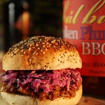 Beer Basted BBQ Pulled Pork and Slaw Burger
